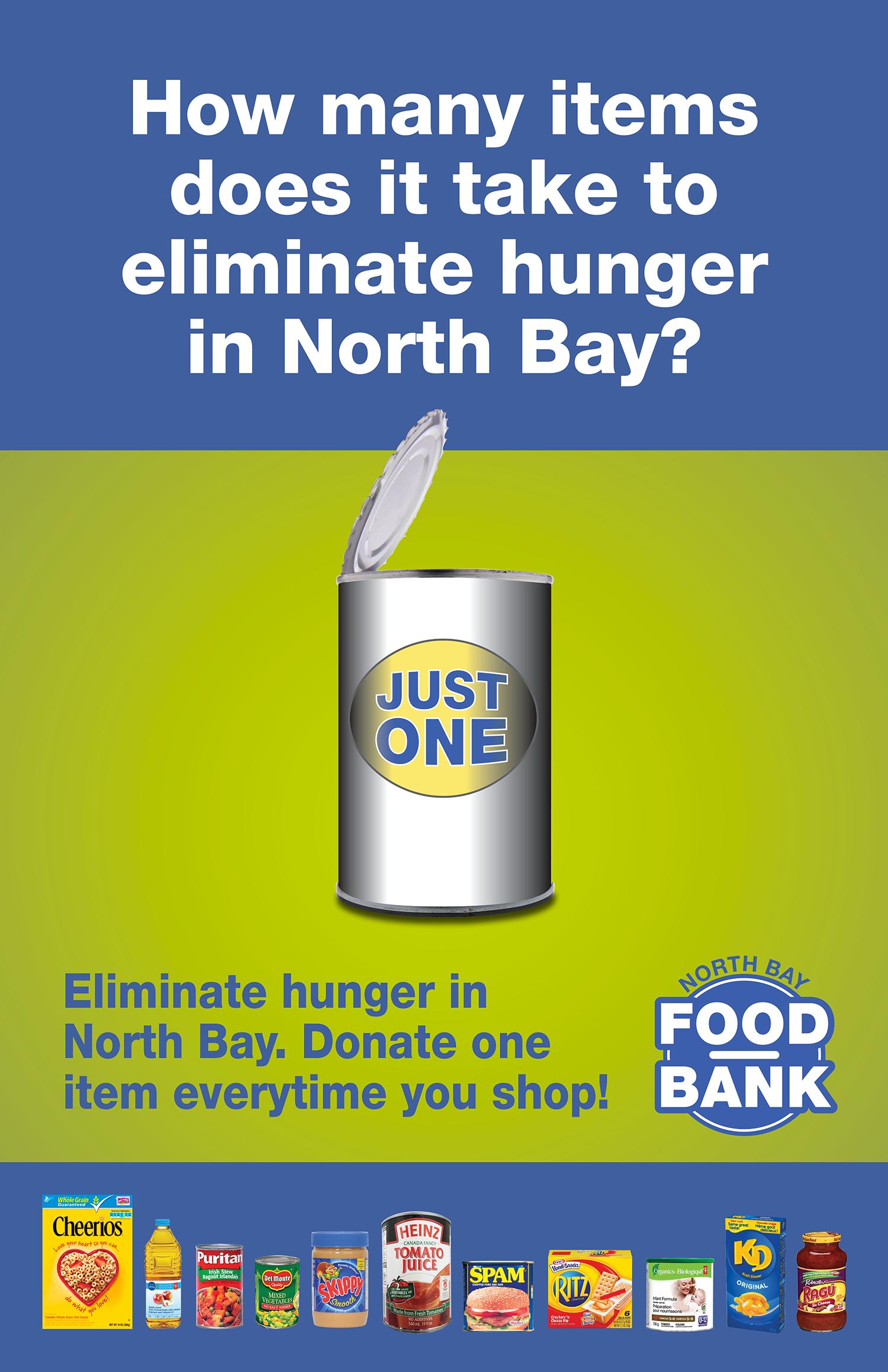 Just 1 Campaign Poster North Bay Food Bank