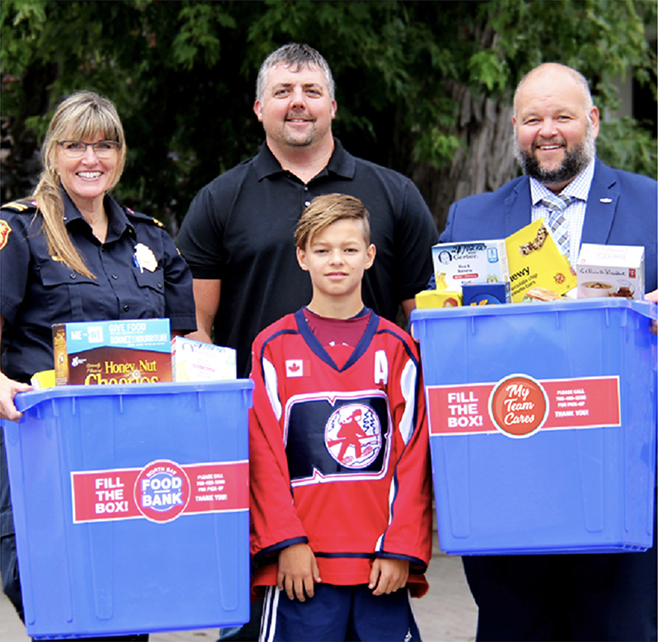 Community Members with Bins for My Team Cares North Bay Food Bank